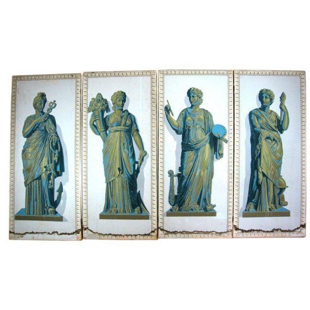 Greek Goddesses Wallpaper Panels - Set of 4 For Sale - Image 11 of 11