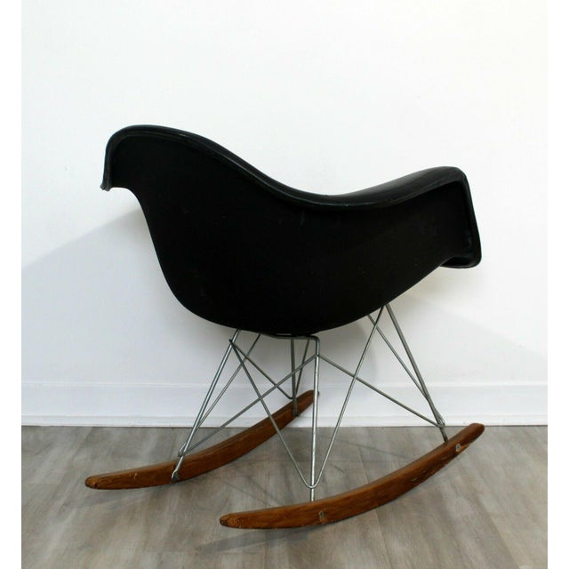 Mid Century Modern Early Charles Eames Eiffel Tower Rocker Rocking Chair 1950s For Sale In Detroit - Image 6 of 7