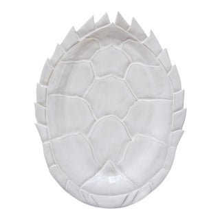 Modern Turtle Paradise Ceramic Plate For Sale