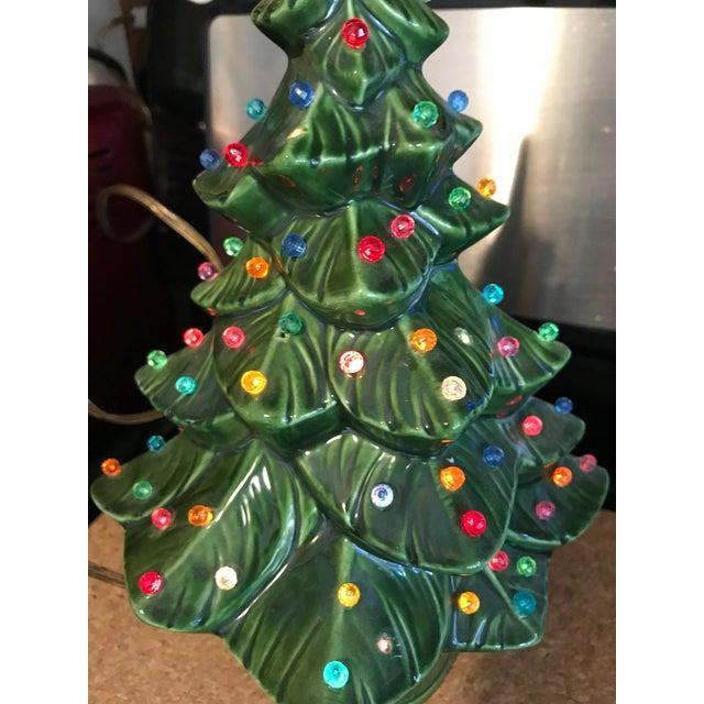 Vintage Ceramic Christmas Tree.1970s Vintage Ceramic Christmas Tree