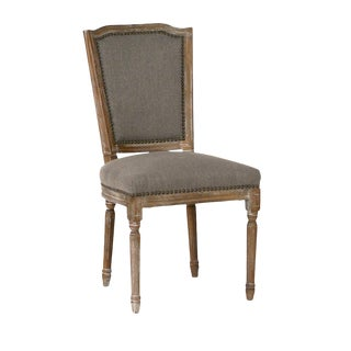 Classic Linen Dining Chair For Sale