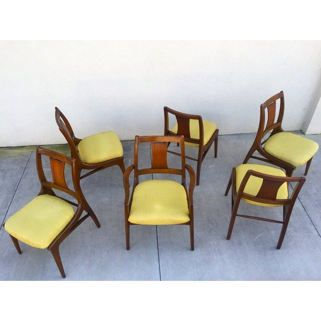 Mid Century Mod Curved Tailback Dining Chairs - 6 - Image 10 of 11
