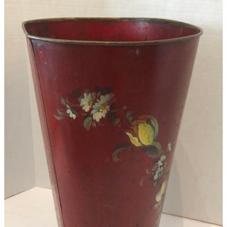 French Tole Umbrella Stand, Hand Painted With Roses , C1890-190 Preview