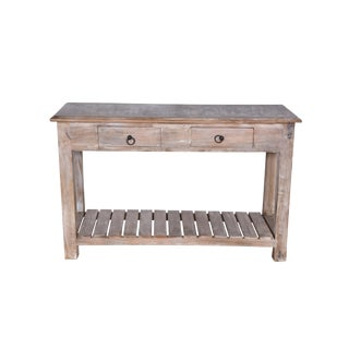 Duplin Entryway Whitewashed Mango Wood Console Table