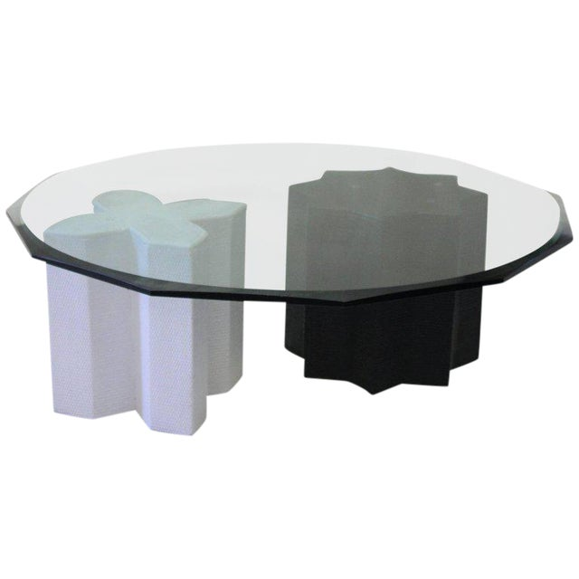 Grasscloth Finish Coffee Table by Harrison Van Horn - Image 1 of 6