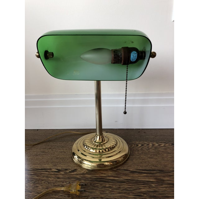 Green Bankers Lamp For Sale - Image 4 of 5