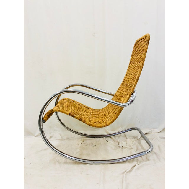 Anglo-Indian Mid Century Modern Thonet Rocking Chair For Sale - Image 3 of 9
