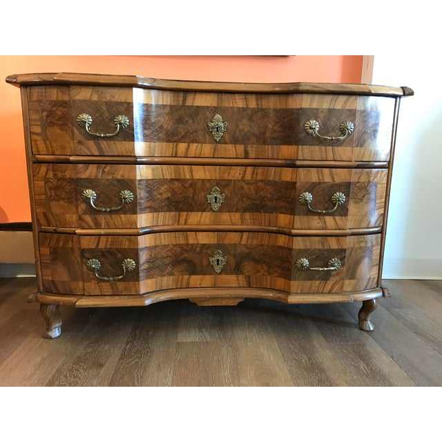 18th Century Italian Burl Walnut Chest of Drawers For Sale - Image 10 of 10