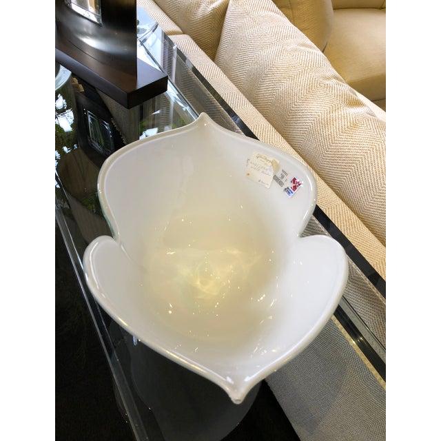 Barovier e Toso 1980s Vintage Barovier E Toso Vetri Murano Italian Art Glass Centerpiece Bowl For Sale - Image 4 of 9