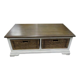 Coffee Table With Storage Baskets Modern Farm Style For Sale