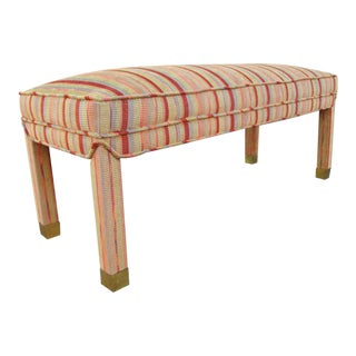 French Upholstered Bench For Sale