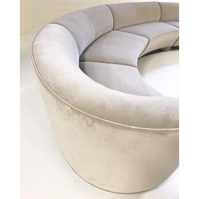 Vintage Vladimir Kagan for Directional Cloud Sofa Restored in Loro Piana Grey Velvet For Sale In Saint Louis - Image 6 of 10