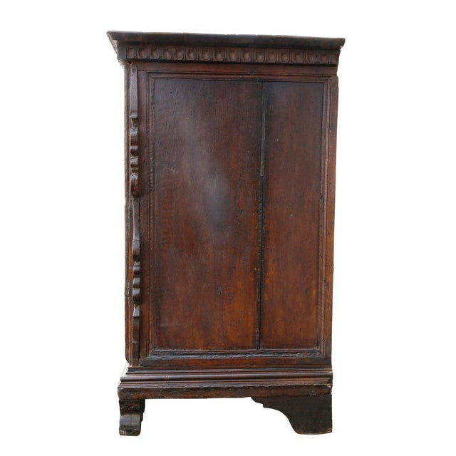 Impressive Italian Baroque Walnut and Burl Walnut Commode For Sale - Image 9 of 12