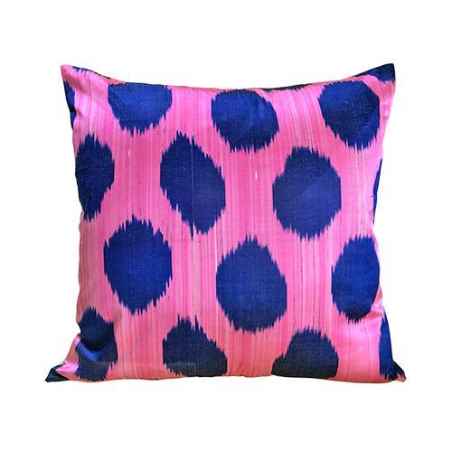 Islamic Kim Salmela Modern Turkish Silk Velvet Ikat Lumbar Pillow For Sale - Image 3 of 3