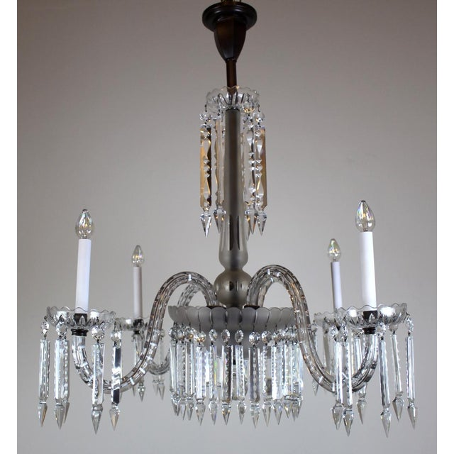 4 Arm Victorian Crystal Chandelier Image 2 Of 11