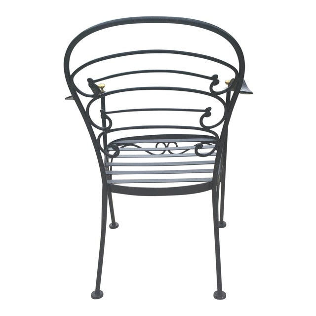 Early 21st Century Woodard Wrought Iron Patio Set- 5 Pieces For Sale In Greenville, SC - Image 6 of 10