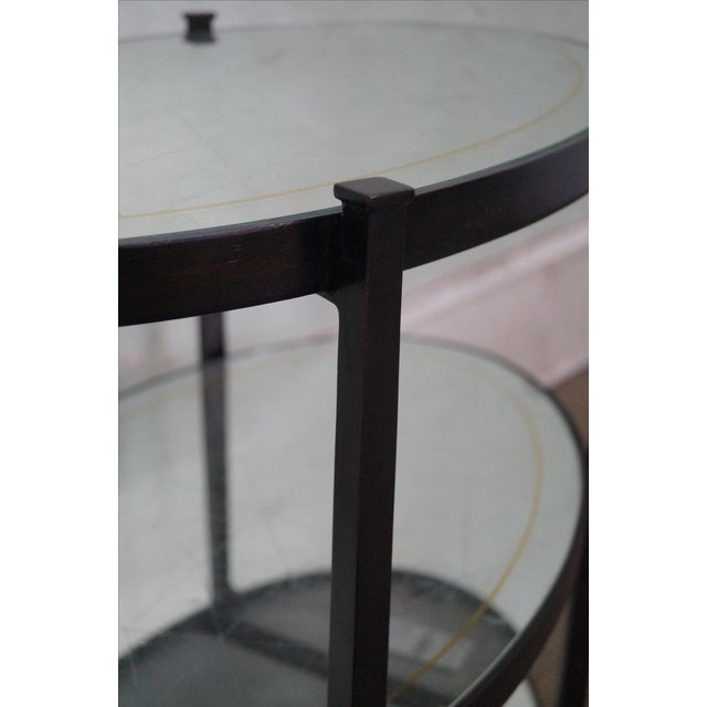 Jonathan Charles Luxe Collection 3 Tier Side Table For Sale - Image 4 of 10