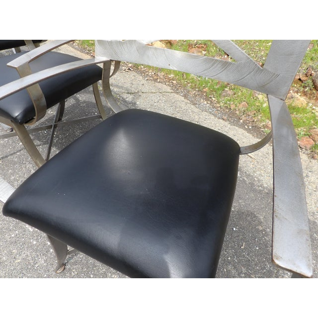 "Vintage Mid Century Arthur Umanoff for Shaver Howard ""X"" Chairs- Set of 4 For Sale - Image 12 of 13"