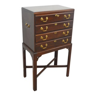 Ethan Allen Cherry Silver Chest For Sale