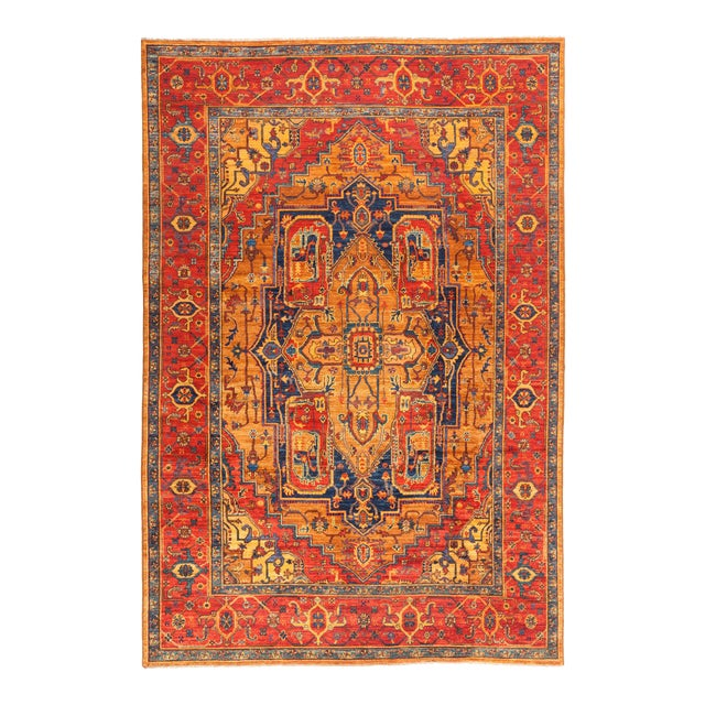 """Serapi Hand Knotted Area Rug - 6' 9"""" X 10' 2"""" For Sale"""