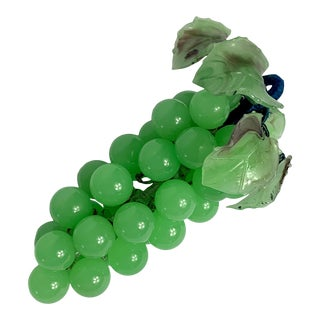 1950s Mid-Century Modern Green Stone and Glass Grape Cluster For Sale
