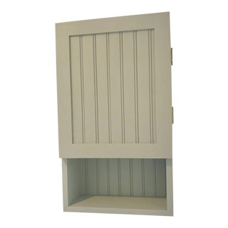 Country Pine Wood Gray/Taupe Wall Cabinet For Sale