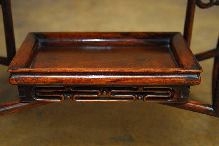 Chinese Qing Rosewood Folding Tray Table Chairish