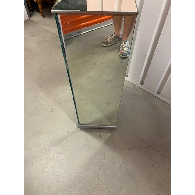 1940s 1940s Antique French Mirrored Bedside Table/Nightstand For Sale - Image 5 of 11