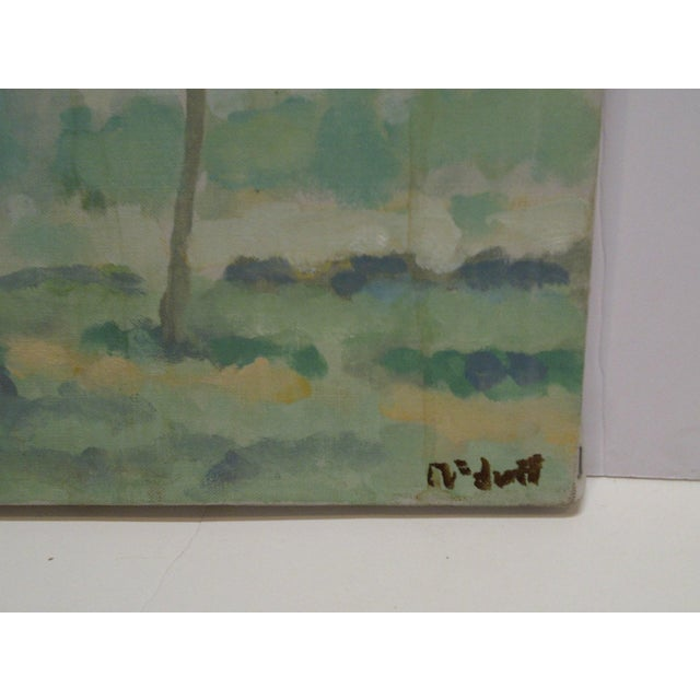 "20th Century Contemporary Original Framed Painting on Canvas, ""Trees"" by Frederick McDuff For Sale - Image 4 of 6"