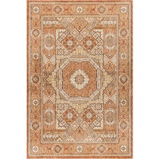 "Fairview Phillip Spice Traditional Area Rug - 5'3"" x 7'3"" For Sale"