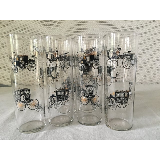 """1960s 1960s Mid-Century Modern Libbey """"Carriages"""" Highball Glasses - Set of 8 For Sale - Image 5 of 5"""