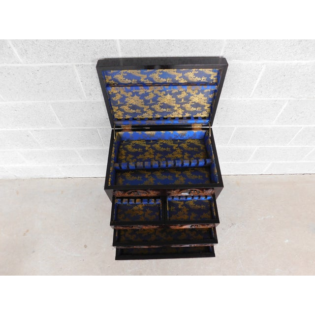 Features Fine Quality Made Construction - Silk Lined Drawers, Carved Details Throughout Good Antique Condition, Original...