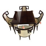Image of Modern Baker Furniture Thomas Pheasant Collection Neoclassic Dining Set- 5 Pieces For Sale
