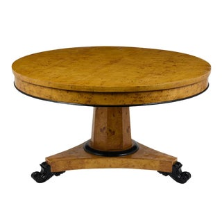 Empire Burled Centre Table, Circa 1930 For Sale