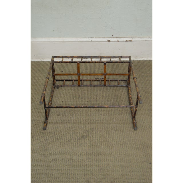 Faux Bamboo Metal Planter Console For Sale - Image 10 of 10