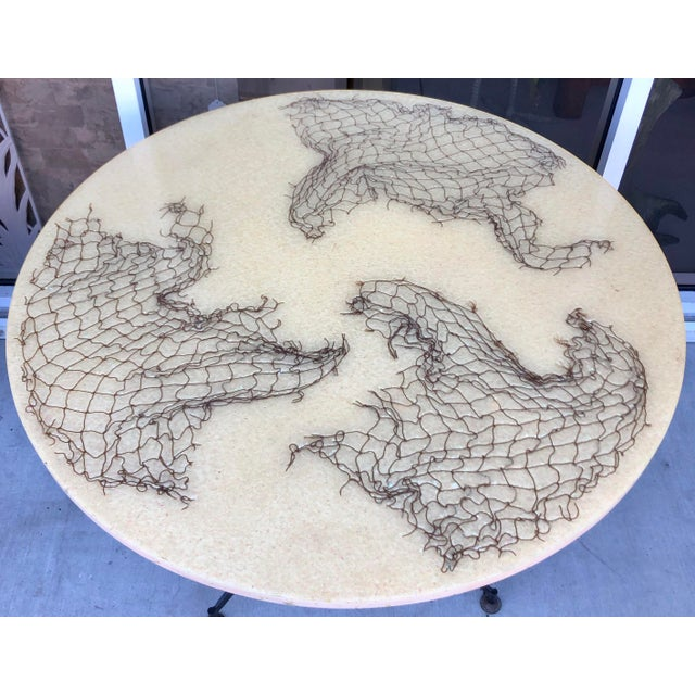 1960s Gio Ponti Style Round Dining Table For Sale - Image 5 of 8
