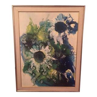 Vintage Turner 1960s Flower Wall Print