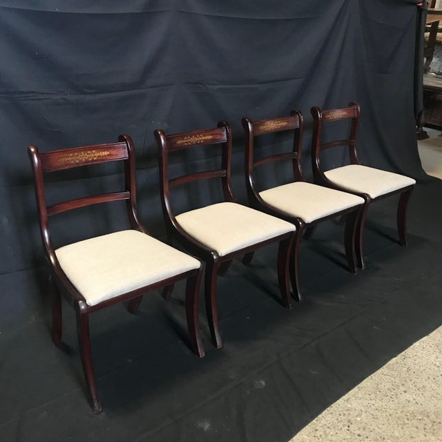 English Early 19th Century Regency Dining Chairs- Set of 4 For Sale - Image 3 of 13
