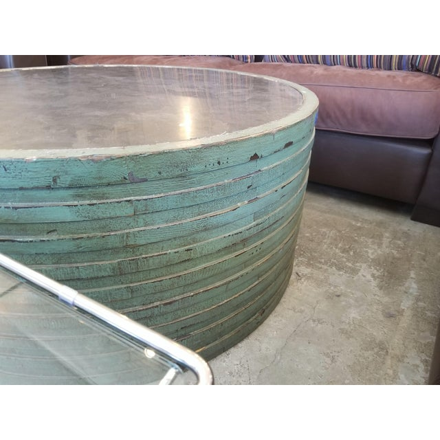 2010s Transitional Classic Home Stone Top Coffee Table For Sale - Image 5 of 7