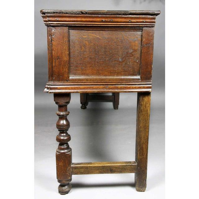 Wood Jacobean Oak Dresser Base For Sale - Image 7 of 9