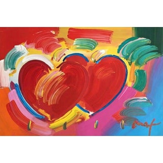 Peter Max Two Hearts As One 2008 For Sale