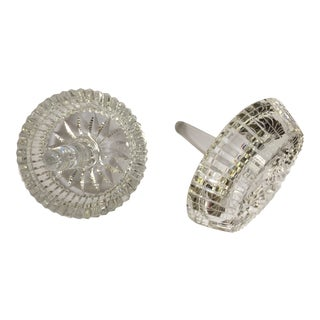 Vintage Crystal Ring Holders - a Pair For Sale
