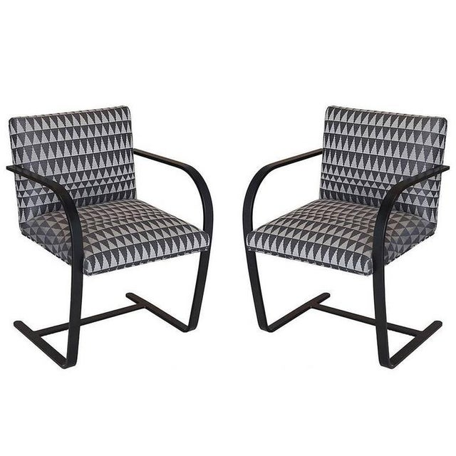 Gray Late 20th Century Vintage Flat Bar Brno Chairs - a Pair For Sale - Image 8 of 8