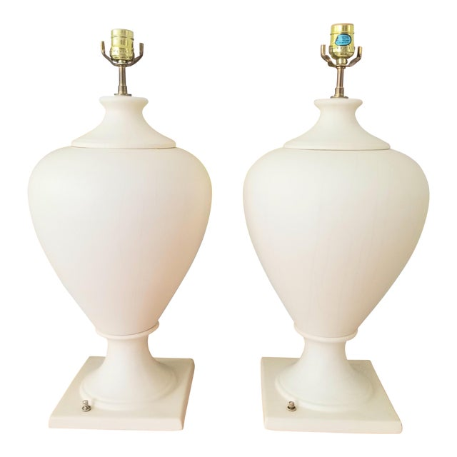 Late 20th Century Kostka Ceramic Lamps - a Pair For Sale