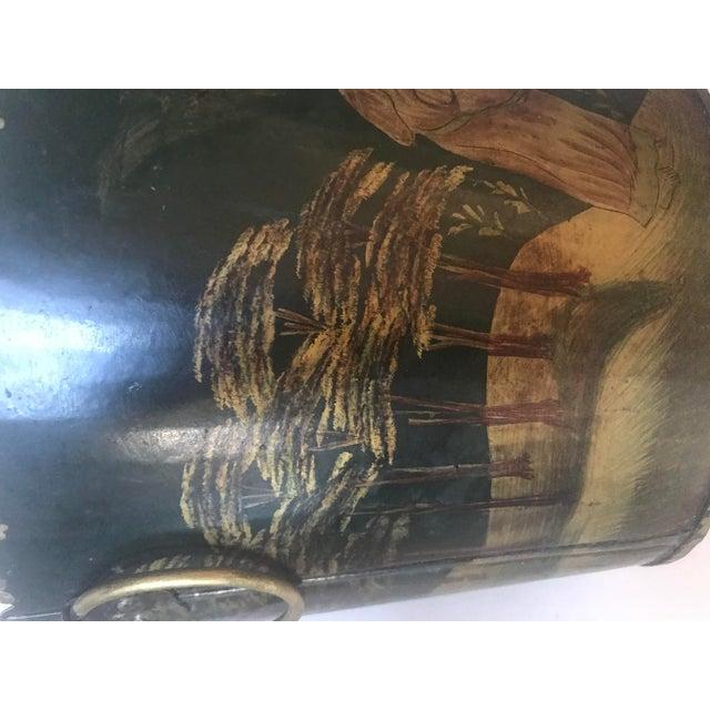 Painted Tole Cachet-Pot For Sale - Image 4 of 11