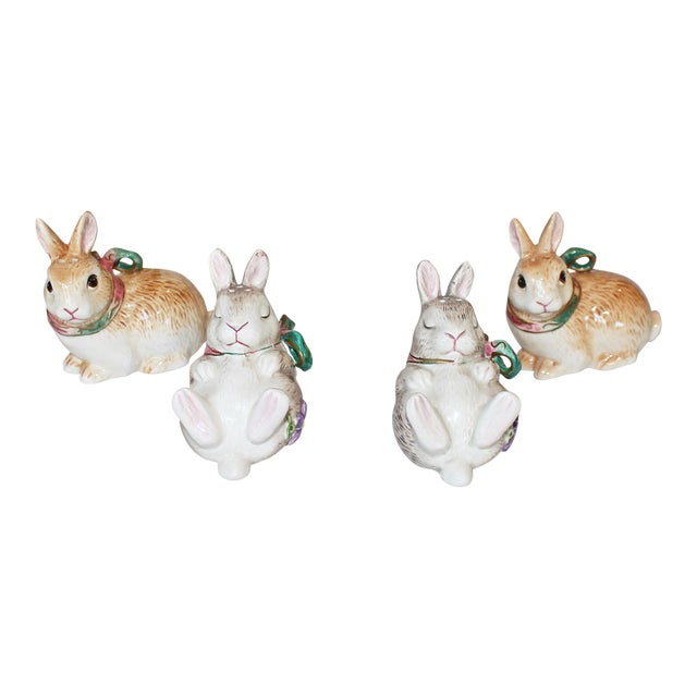 Fitz and Floyd Bunny Rabbit Shakers - Set of 4 - Image 1 of 11