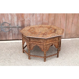 Bone Inlay Octagonal Star Coffee Table Preview