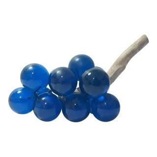 Mid Century Lucite Blue Grape Cluster