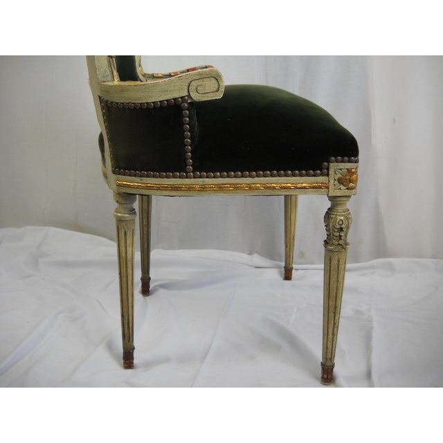 French Painted Gilt Dining Chairs - Set of 6 For Sale - Image 10 of 11