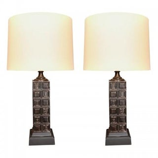 "Mid-Century ""Chess"" Lamps by Baker - Pair For Sale"